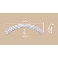 Радиус [1/4 круга] Decomaster 897902-120 (Rнар. 700 | Rвн. 600)